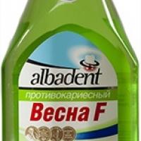"""Лечебно-профилактический противокариесный бальзам-ополаскиватель """"Альбадент Весна F"""" для полости рта с ионами кальция и фтора"""
